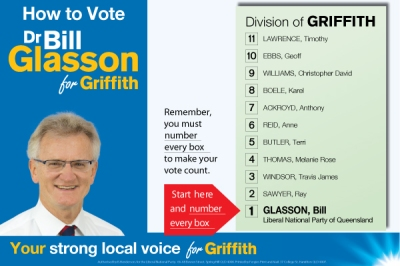 Bill Glasson How-to-vote