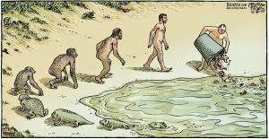 Dan Piraro's representation of this century's state of the planet (the Anthropocene).