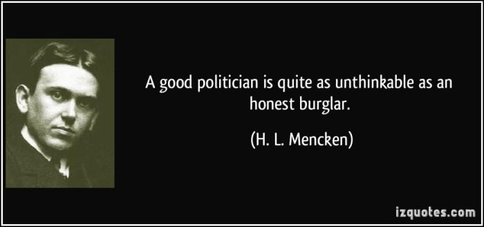 a good politician